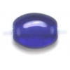 Glass Bead Flat/oval 6X8mm Cobalt Blue - Strung
